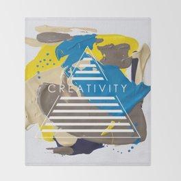 Miniature Original - creativity Throw Blanket