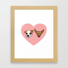 I heart Chihuahuas Framed Art Print