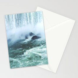 From below where all the water falls, Niagara 03 Stationery Cards