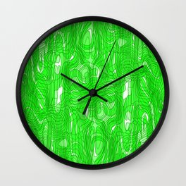 Subtle interweaving of sparkling smudges from green lava and light chaotic cycle. Wall Clock