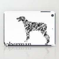 doberman iPad Cases featuring Doberman Scribble by Jake Stanton