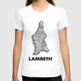 Lambeth - London Boroughs - Detailed T-shirt