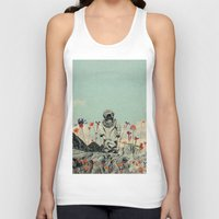 diver Tank Tops featuring Lonely Diver by Fajar P. Domingo