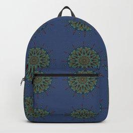 Himalayan Candy Blue - Mini Mandala Pattern Backpack