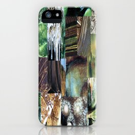 Collage - It's Not Easy Being Green iPhone Case
