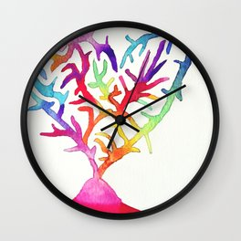 Coral love Wall Clock