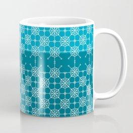Portuguese Tiles of Lisboa in Blue with Glitch Coffee Mug