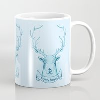 harry potter Mugs featuring Expecto Patronum- Harry Potter by Manfred Maroto