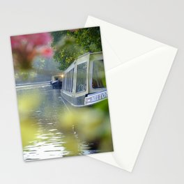The Flowering look at a boat on the Little Venice canals in London | Color Photography | Travel Photography | Photo Print | Art Print Stationery Cards