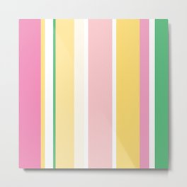 Manly Stripe Metal Print