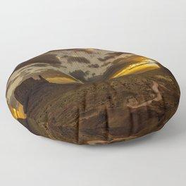 Monument Valley - Vivid Sunrise Floor Pillow