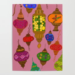 Istanbul lamps Poster