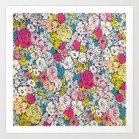 vintage flowers Art Prints featuring Vintage flowers by Love2Snap