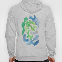 171122 Watercolour Abstract 5|abstract shapes art design colour |shapes art abstract Hoody