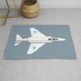 F-4 Phantom Jet Fighter Aircraft - Slate Rug
