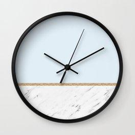 Duck egg blue marble Wall Clock