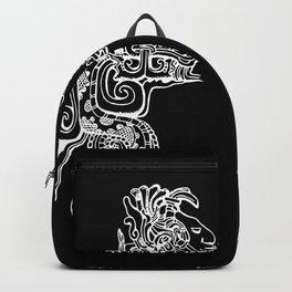 Maya Serpent Black Backpack