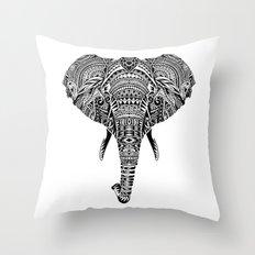 Polynesian Elephant Throw Pillow
