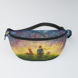 The little Prince original Painting illustration on canvas by Valery Rybakow Fanny Pack