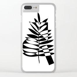 Geometric leaf Clear iPhone Case