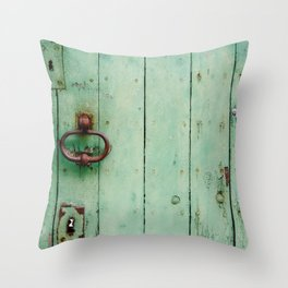 The Green Door Throw Pillow