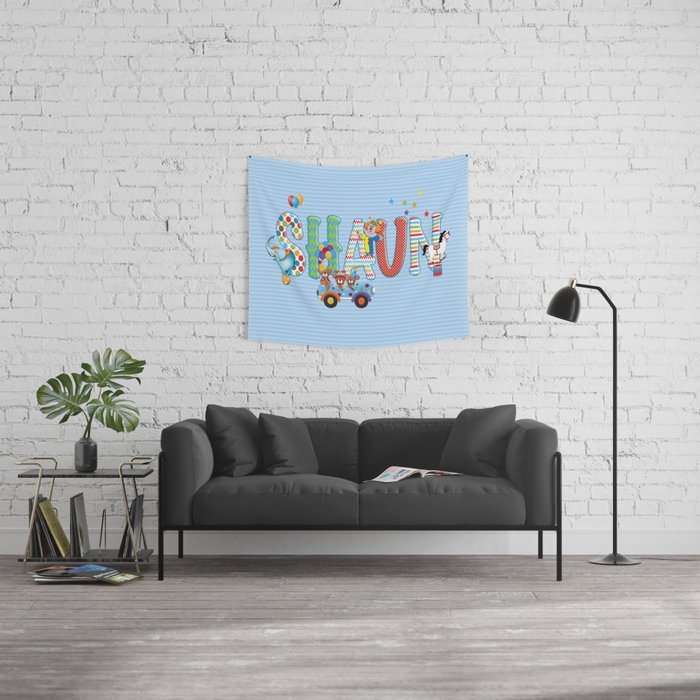 Shaun / Personalised Children's  Name Wall Tapestry