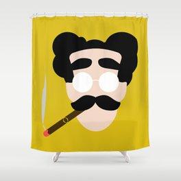4menSmoking- Groucho Shower Curtain