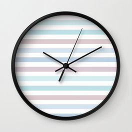 Striped pattern in pastel colours 1 Wall Clock