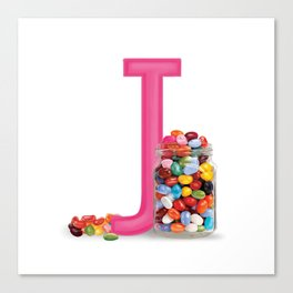 J is for Jelly beans Canvas Print