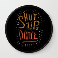 dance Wall Clocks featuring Dance by skitchism