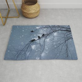 Hearts and Snowflakes Rug