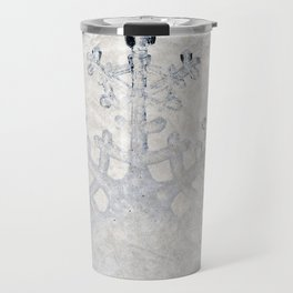 Snowflakes frozen freeze Travel Mug