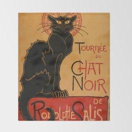 """Théophile Steinlen """"Tournée du Chat Noir"""" Throw Blanket"""