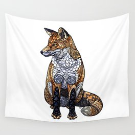 Stained Glass Fox Wall Tapestry