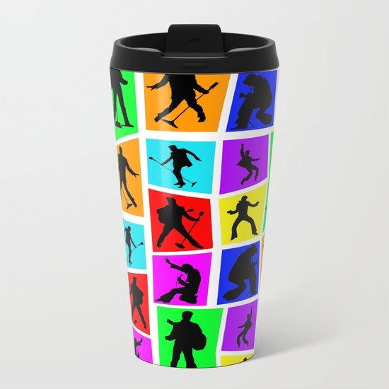 The King Color Tile Silhouette Metal Travel Mug