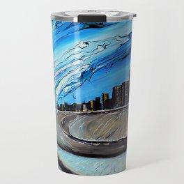 Chicago Through Wave Travel Mug
