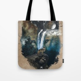 Calm of the Wolf Tote Bag