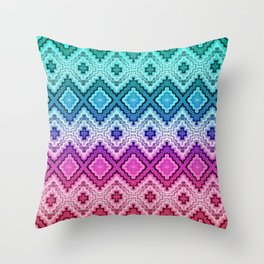 Woven Pastels Throw Pillow