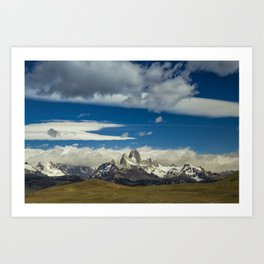 Fitz Roy in a summer day Art Print