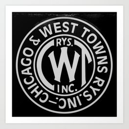 Chicago & West Towns Rail Art Print