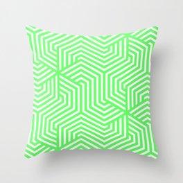 Screamin' Green - green - Minimal Vector Seamless Pattern Throw Pillow