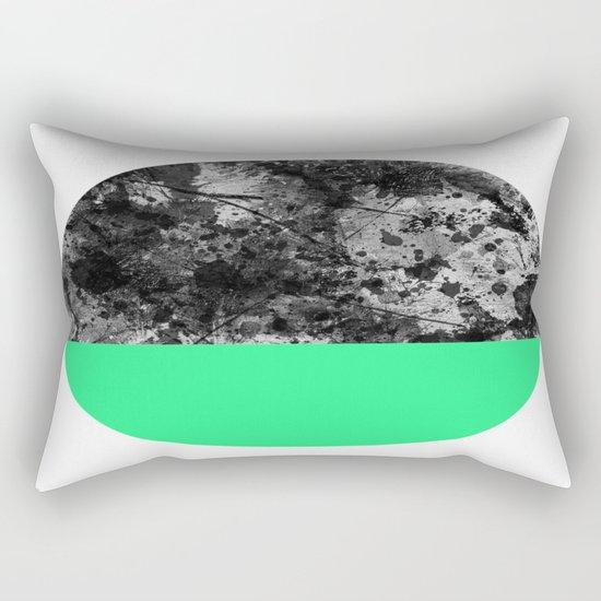 Bathing Moon (In Green) Rectangular Pillow