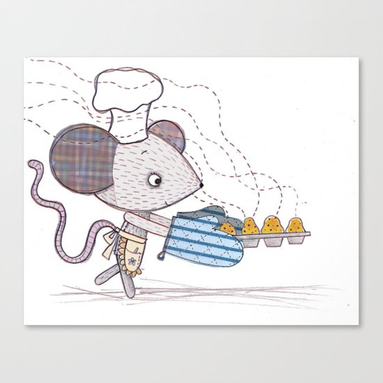 Bakery Mouse Canvas Print