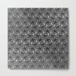 Virynne (Silver Grey) #patterns Metal Print