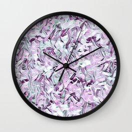 Snowy Confetti Lavender Gray Wall Clock