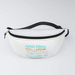 Christmas Chow Chow Through the Snow Dog Lover Fanny Pack