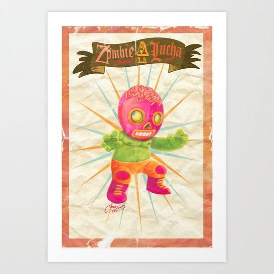 zombie ala lucha  Art Print