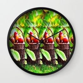 Fruit Basket Stereogram Wall Clock