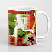 running Mugs featuring Running by Robin Curtiss