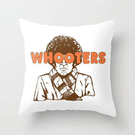 Whooters Throw Pillow